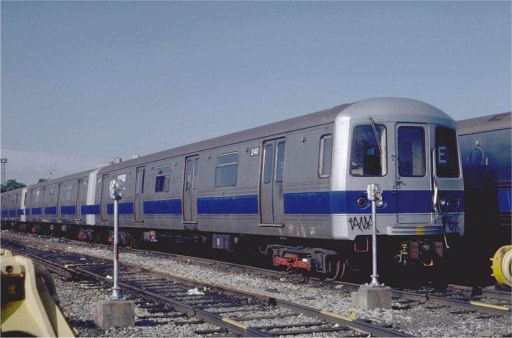 (207k, 1024x677)<br><b>Country:</b> United States<br><b>City:</b> New York<br><b>System:</b> New York City Transit<br><b>Location:</b> Jamaica Yard/Shops<br><b>Car:</b> R-44 (St. Louis, 1971-73) 240 <br><b>Photo by:</b> Steve Zabel<br><b>Collection of:</b> Joe Testagrose<br><b>Date:</b> 6/23/1981<br><b>Viewed (this week/total):</b> 4 / 6813