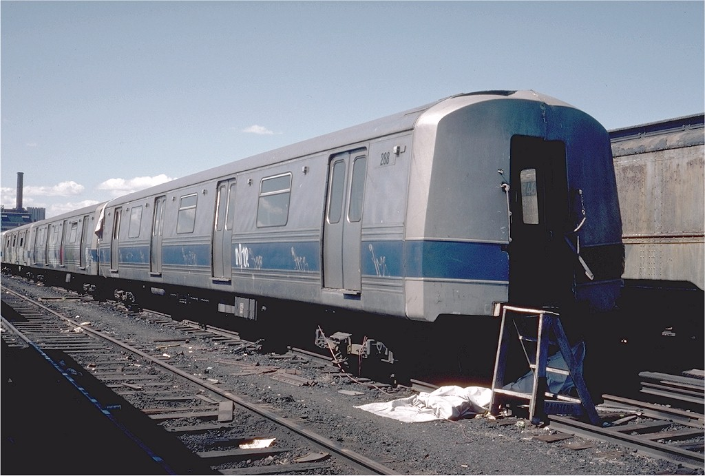 (181k, 1024x691)<br><b>Country:</b> United States<br><b>City:</b> New York<br><b>System:</b> New York City Transit<br><b>Location:</b> 207th Street Yard<br><b>Car:</b> R-44 (St. Louis, 1971-73) 288 <br><b>Photo by:</b> Steve Zabel<br><b>Collection of:</b> Joe Testagrose<br><b>Date:</b> 4/1976<br><b>Viewed (this week/total):</b> 2 / 4349