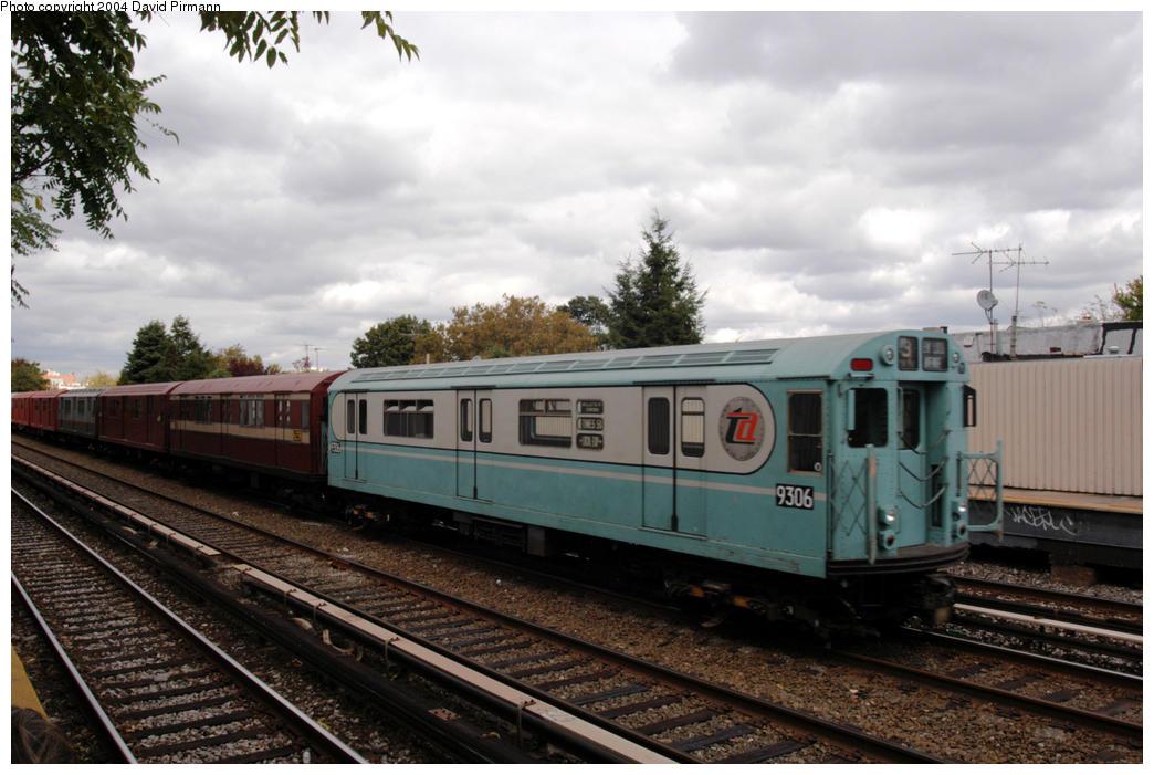 (177k, 1044x701)<br><b>Country:</b> United States<br><b>City:</b> New York<br><b>System:</b> New York City Transit<br><b>Line:</b> BMT Brighton Line<br><b>Location:</b> Neck Road <br><b>Route:</b> Fan Trip<br><b>Car:</b> R-33 World's Fair (St. Louis, 1963-64) 9306 <br><b>Photo by:</b> David Pirmann<br><b>Date:</b> 10/23/2004<br><b>Viewed (this week/total):</b> 0 / 2956