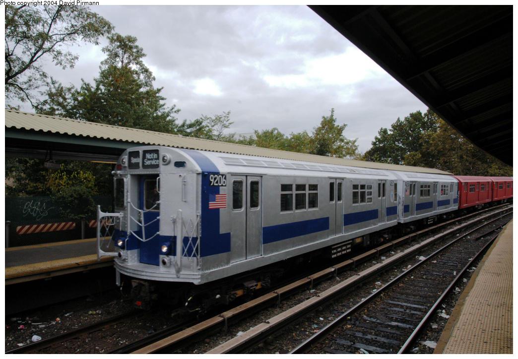 (182k, 1044x724)<br><b>Country:</b> United States<br><b>City:</b> New York<br><b>System:</b> New York City Transit<br><b>Line:</b> BMT Brighton Line<br><b>Location:</b> Sheepshead Bay <br><b>Route:</b> Fan Trip<br><b>Car:</b> R-33 Main Line (St. Louis, 1962-63) 9206 <br><b>Photo by:</b> David Pirmann<br><b>Date:</b> 10/23/2004<br><b>Viewed (this week/total):</b> 11 / 6761