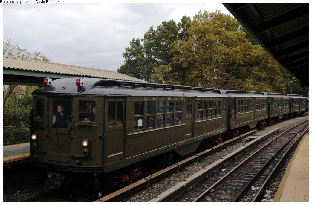 (191k, 1044x686)<br><b>Country:</b> United States<br><b>City:</b> New York<br><b>System:</b> New York City Transit<br><b>Line:</b> BMT Brighton Line<br><b>Location:</b> Sheepshead Bay <br><b>Route:</b> Fan Trip<br><b>Car:</b> Low-V (Museum Train) 5443 <br><b>Photo by:</b> David Pirmann<br><b>Date:</b> 10/23/2004<br><b>Viewed (this week/total):</b> 6 / 3465