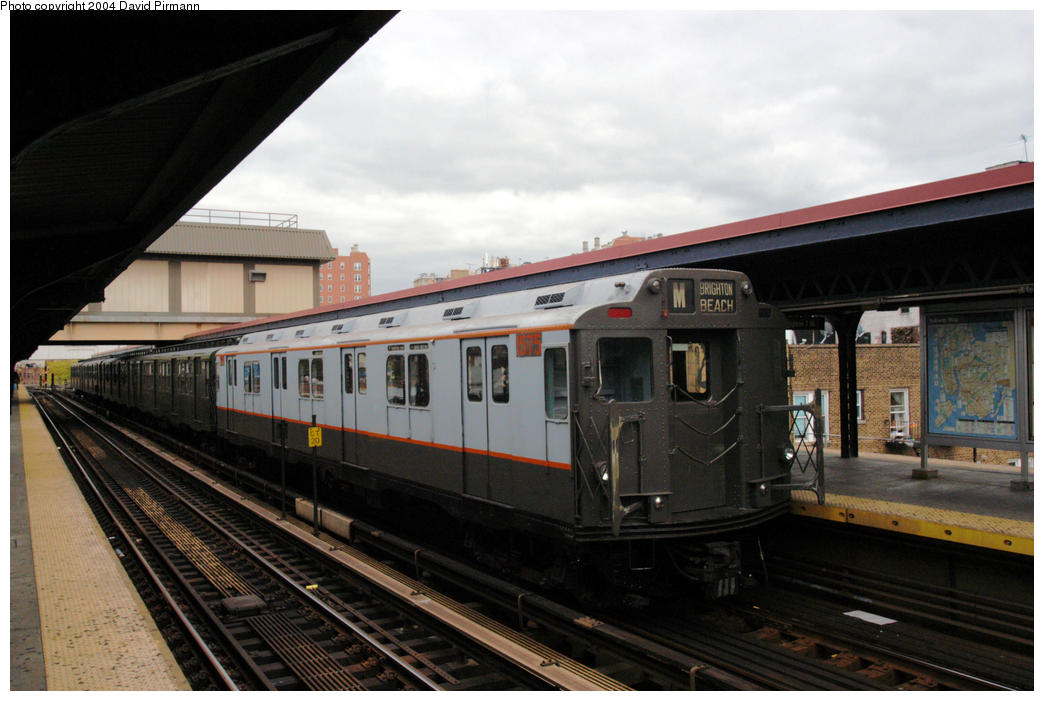 (157k, 1044x701)<br><b>Country:</b> United States<br><b>City:</b> New York<br><b>System:</b> New York City Transit<br><b>Line:</b> BMT Brighton Line<br><b>Location:</b> Brighton Beach <br><b>Route:</b> Fan Trip<br><b>Car:</b> R-7A (Pullman, 1938)  1575 <br><b>Photo by:</b> David Pirmann<br><b>Date:</b> 10/23/2004<br><b>Viewed (this week/total):</b> 4 / 2974