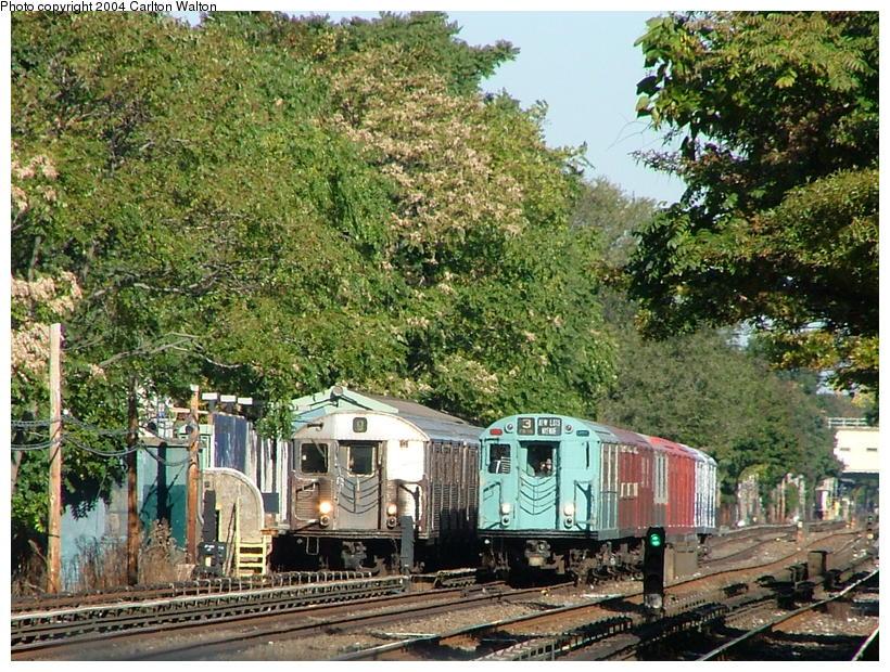(163k, 820x620)<br><b>Country:</b> United States<br><b>City:</b> New York<br><b>System:</b> New York City Transit<br><b>Line:</b> BMT Brighton Line<br><b>Location:</b> Avenue U <br><b>Route:</b> Fan Trip<br><b>Car:</b> R-33 World's Fair (St. Louis, 1963-64) 9306 <br><b>Photo by:</b> Carlton Walton<br><b>Date:</b> 10/23/2004<br><b>Viewed (this week/total):</b> 6 / 6893