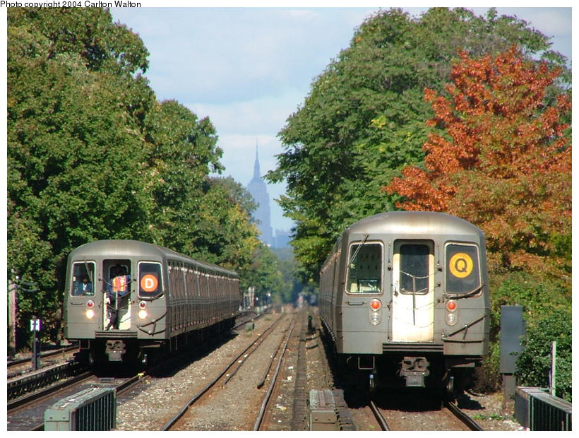 (135k, 820x620)<br><b>Country:</b> United States<br><b>City:</b> New York<br><b>System:</b> New York City Transit<br><b>Line:</b> BMT Brighton Line<br><b>Location:</b> Kings Highway <br><b>Route:</b> Q<br><b>Car:</b> R-68/R-68A Series (Number Unknown)  <br><b>Photo by:</b> Carlton Walton<br><b>Date:</b> 10/23/2004<br><b>Viewed (this week/total):</b> 3 / 7051