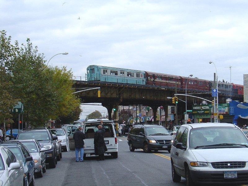 (106k, 800x600)<br><b>Country:</b> United States<br><b>City:</b> New York<br><b>System:</b> New York City Transit<br><b>Line:</b> BMT Brighton Line<br><b>Location:</b> Brighton Beach <br><b>Route:</b> Fan Trip<br><b>Car:</b> R-33 World's Fair (St. Louis, 1963-64) 9306 <br><b>Photo by:</b> Fred Guenther<br><b>Date:</b> 10/23/2004<br><b>Viewed (this week/total):</b> 1 / 4000
