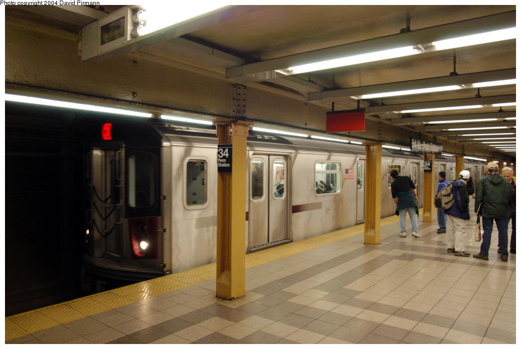 (161k, 1044x701)<br><b>Country:</b> United States<br><b>City:</b> New York<br><b>System:</b> New York City Transit<br><b>Line:</b> IRT West Side Line<br><b>Location:</b> 34th Street/Penn Station <br><b>Route:</b> 2<br><b>Car:</b> R-142 (Primary Order, Bombardier, 1999-2002)  6495 <br><b>Photo by:</b> David Pirmann<br><b>Date:</b> 10/29/2004<br><b>Viewed (this week/total):</b> 1 / 5250