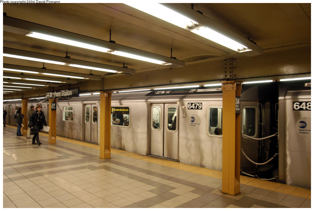 (168k, 1044x701)<br><b>Country:</b> United States<br><b>City:</b> New York<br><b>System:</b> New York City Transit<br><b>Line:</b> IRT West Side Line<br><b>Location:</b> 34th Street/Penn Station <br><b>Route:</b> 2<br><b>Car:</b> R-142 (Primary Order, Bombardier, 1999-2002)  6479 <br><b>Photo by:</b> David Pirmann<br><b>Date:</b> 10/29/2004<br><b>Viewed (this week/total):</b> 1 / 5210