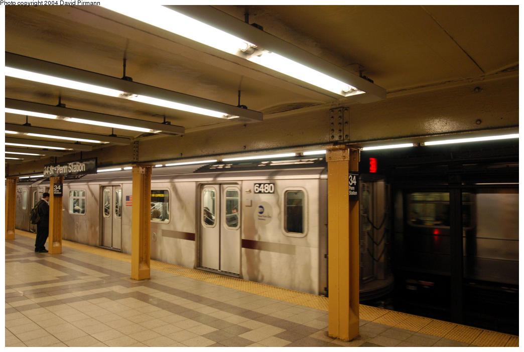 (156k, 1044x701)<br><b>Country:</b> United States<br><b>City:</b> New York<br><b>System:</b> New York City Transit<br><b>Line:</b> IRT West Side Line<br><b>Location:</b> 34th Street/Penn Station <br><b>Route:</b> 2<br><b>Car:</b> R-142 (Primary Order, Bombardier, 1999-2002)  6480 <br><b>Photo by:</b> David Pirmann<br><b>Date:</b> 10/29/2004<br><b>Viewed (this week/total):</b> 2 / 4881