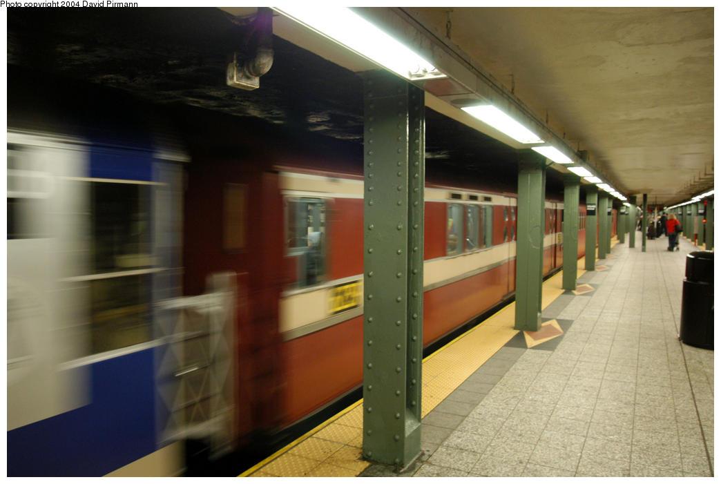 (140k, 1044x701)<br><b>Country:</b> United States<br><b>City:</b> New York<br><b>System:</b> New York City Transit<br><b>Line:</b> IRT Brooklyn Line<br><b>Location:</b> Atlantic Avenue <br><b>Route:</b> Fan Trip<br><b>Car:</b> R-15 (American Car & Foundry, 1950) 6239 <br><b>Photo by:</b> David Pirmann<br><b>Date:</b> 10/29/2004<br><b>Notes:</b> Train in regular passenger service, technically not a fan trip.<br><b>Viewed (this week/total):</b> 0 / 3007