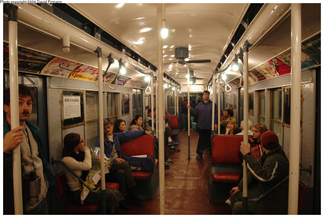 (179k, 1044x701)<br><b>Country:</b> United States<br><b>City:</b> New York<br><b>System:</b> New York City Transit<br><b>Route:</b> Fan Trip<br><b>Car:</b> R-4 (American Car & Foundry, 1932-1933) 401 <br><b>Photo by:</b> David Pirmann<br><b>Date:</b> 10/29/2004<br><b>Notes:</b> Train in regular passenger service, technically not a fan trip.<br><b>Viewed (this week/total):</b> 0 / 5381