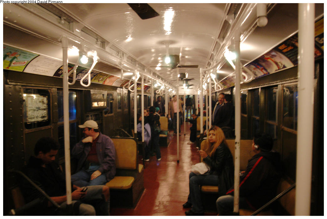(168k, 1044x701)<br><b>Country:</b> United States<br><b>City:</b> New York<br><b>System:</b> New York City Transit<br><b>Route:</b> Fan Trip<br><b>Car:</b> R-1 (American Car & Foundry, 1930-1931) 381 <br><b>Photo by:</b> David Pirmann<br><b>Date:</b> 10/29/2004<br><b>Notes:</b> Train in regular passenger service, technically not a fan trip.<br><b>Viewed (this week/total):</b> 3 / 6707