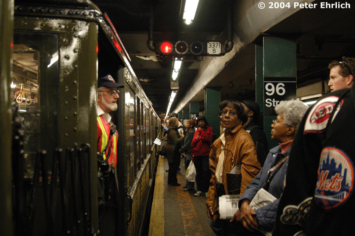 (151k, 720x478)<br><b>Country:</b> United States<br><b>City:</b> New York<br><b>System:</b> New York City Transit<br><b>Line:</b> IRT West Side Line<br><b>Location:</b> 96th Street <br><b>Route:</b> Fan Trip<br><b>Car:</b> Low-V (Museum Train) 5290 <br><b>Photo by:</b> Peter Ehrlich<br><b>Date:</b> 10/27/2004<br><b>Notes:</b> Train in regular passenger service, technically not a fan trip.<br><b>Viewed (this week/total):</b> 2 / 5048