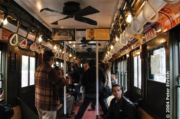 (200k, 720x478)<br><b>Country:</b> United States<br><b>City:</b> New York<br><b>System:</b> New York City Transit<br><b>Route:</b> Fan Trip<br><b>Car:</b> Low-V (Museum Train) 5290 <br><b>Photo by:</b> Peter Ehrlich<br><b>Date:</b> 10/27/2004<br><b>Notes:</b> Train in regular passenger service, technically not a fan trip.<br><b>Viewed (this week/total):</b> 1 / 2377