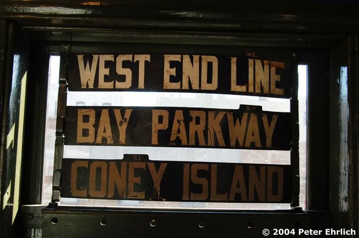 (128k, 720x478)<br><b>Country:</b> United States<br><b>City:</b> New York<br><b>System:</b> New York City Transit<br><b>Route:</b> Fan Trip<br><b>Car:</b> BMT Elevated Gate Car 1404-1273-1407 <br><b>Photo by:</b> Peter Ehrlich<br><b>Date:</b> 10/28/2004<br><b>Notes:</b> Metal line and terminal signs on the BUs.<br><b>Viewed (this week/total):</b> 1 / 2145