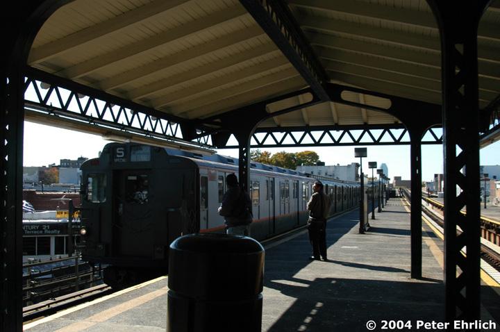 (139k, 720x478)<br><b>Country:</b> United States<br><b>City:</b> New York<br><b>System:</b> New York City Transit<br><b>Line:</b> BMT Astoria Line<br><b>Location:</b> Astoria Boulevard/Hoyt Avenue <br><b>Route:</b> Fan Trip<br><b>Car:</b> R-7A (Pullman, 1938)  1575 <br><b>Photo by:</b> Peter Ehrlich<br><b>Date:</b> 10/28/2004<br><b>Notes:</b> In service Ditmars Blvd.-Canal St.<br><b>Viewed (this week/total):</b> 0 / 3003