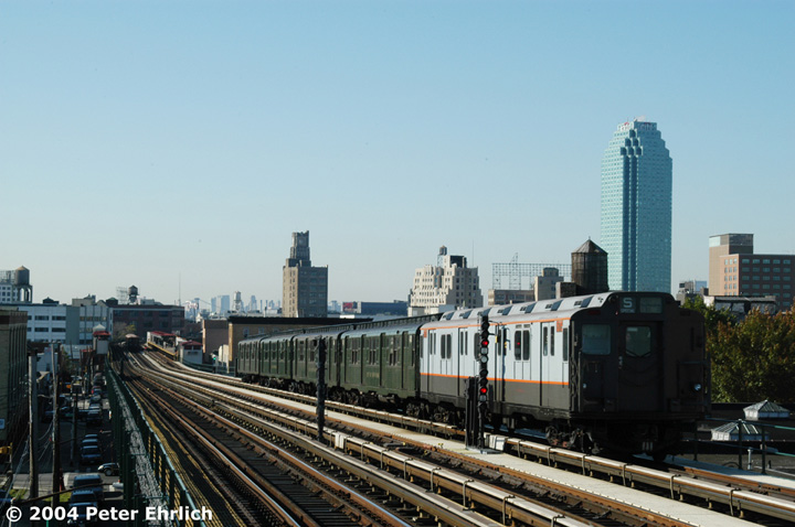 (126k, 720x478)<br><b>Country:</b> United States<br><b>City:</b> New York<br><b>System:</b> New York City Transit<br><b>Line:</b> BMT Astoria Line<br><b>Location:</b> 36th/Washington Aves. <br><b>Route:</b> Fan Trip<br><b>Car:</b> R-7A (Pullman, 1938)  1575 <br><b>Photo by:</b> Peter Ehrlich<br><b>Date:</b> 10/28/2004<br><b>Notes:</b> In service Ditmars Blvd.-Canal St.<br><b>Viewed (this week/total):</b> 0 / 2520