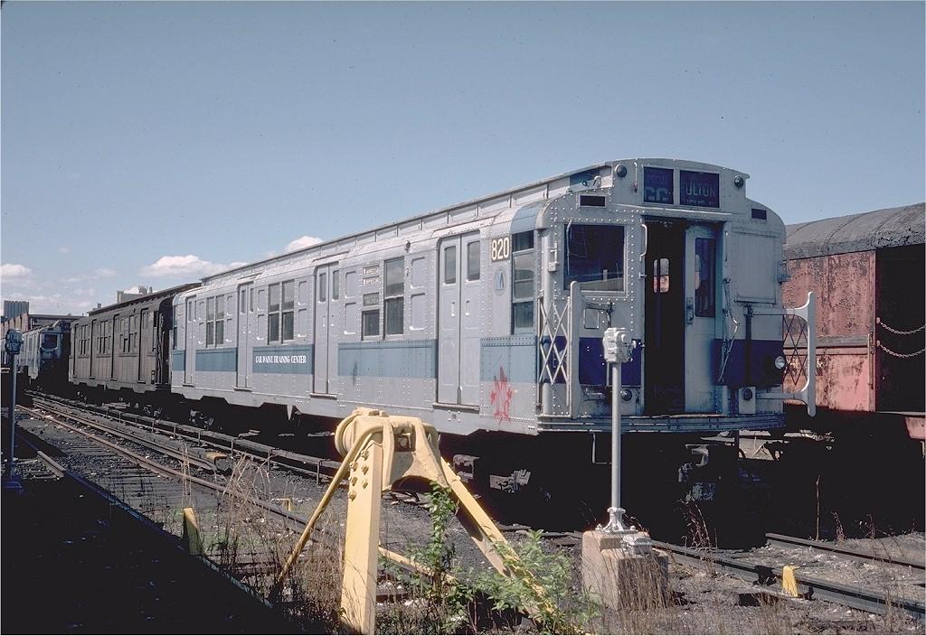 (215k, 1024x704)<br><b>Country:</b> United States<br><b>City:</b> New York<br><b>System:</b> New York City Transit<br><b>Location:</b> 207th Street Yard<br><b>Car:</b> R-4 (American Car & Foundry, 1932-1933) 820 <br><b>Photo by:</b> Steve Zabel<br><b>Collection of:</b> Joe Testagrose<br><b>Date:</b> 4/1976<br><b>Viewed (this week/total):</b> 1 / 2907