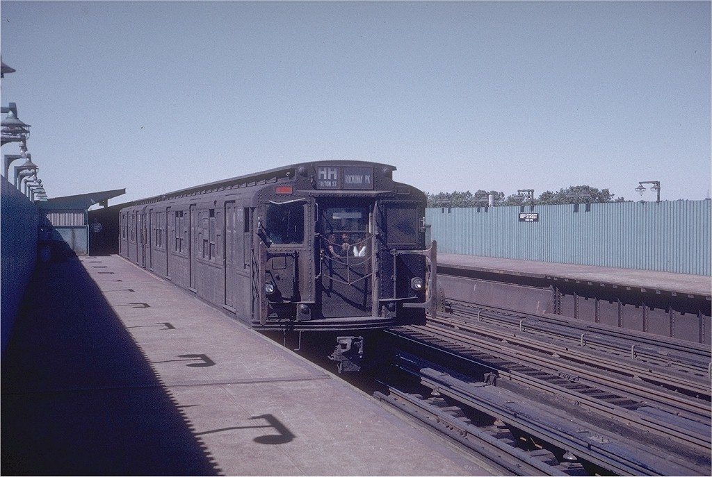 (191k, 1024x687)<br><b>Country:</b> United States<br><b>City:</b> New York<br><b>System:</b> New York City Transit<br><b>Line:</b> IND Fulton Street Line<br><b>Location:</b> 88th Street/Boyd Avenue <br><b>Route:</b> HH<br><b>Car:</b> R-6-3 (American Car & Foundry, 1935)  978 <br><b>Photo by:</b> Steve Zabel<br><b>Collection of:</b> Joe Testagrose<br><b>Date:</b> 9/10/1972<br><b>Viewed (this week/total):</b> 7 / 4388