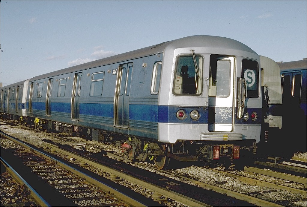 (237k, 1024x693)<br><b>Country:</b> United States<br><b>City:</b> New York<br><b>System:</b> New York City Transit<br><b>Location:</b> Coney Island Yard<br><b>Car:</b> R-46 (Pullman-Standard, 1974-75) 994 <br><b>Photo by:</b> Steve Zabel<br><b>Collection of:</b> Joe Testagrose<br><b>Date:</b> 2/16/1981<br><b>Viewed (this week/total):</b> 3 / 4541