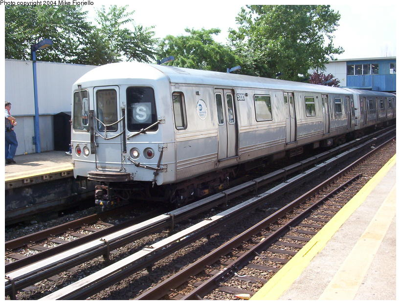 (126k, 820x624)<br><b>Country:</b> United States<br><b>City:</b> New York<br><b>System:</b> New York City Transit<br><b>Line:</b> IND Rockaway<br><b>Location:</b> Broad Channel <br><b>Route:</b> A<br><b>Car:</b> R-44 (St. Louis, 1971-73) 5330 <br><b>Photo by:</b> Mike Fioriello<br><b>Date:</b> 7/17/2004<br><b>Viewed (this week/total):</b> 0 / 3540