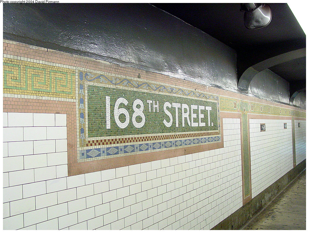 (338k, 1044x788)<br><b>Country:</b> United States<br><b>City:</b> New York<br><b>System:</b> New York City Transit<br><b>Line:</b> IRT West Side Line<br><b>Location:</b> 168th Street <br><b>Photo by:</b> David Pirmann<br><b>Date:</b> 11/6/2004<br><b>Viewed (this week/total):</b> 0 / 2389