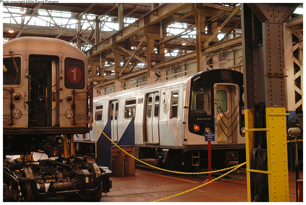 (294k, 1044x701)<br><b>Country:</b> United States<br><b>City:</b> New York<br><b>System:</b> New York City Transit<br><b>Location:</b> 207th Street Shop<br><b>Car:</b> R-143 (Kawasaki, 2001-2002) 8133 <br><b>Photo by:</b> David Pirmann<br><b>Date:</b> 11/6/2004<br><b>Viewed (this week/total):</b> 0 / 4893