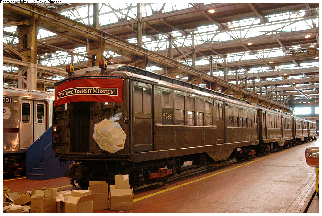 (311k, 1044x701)<br><b>Country:</b> United States<br><b>City:</b> New York<br><b>System:</b> New York City Transit<br><b>Location:</b> 207th Street Shop<br><b>Car:</b> Low-V (Museum Train) 5292 <br><b>Photo by:</b> David Pirmann<br><b>Date:</b> 11/6/2004<br><b>Viewed (this week/total):</b> 0 / 3034