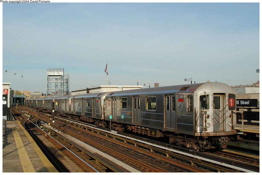 (233k, 1044x701)<br><b>Country:</b> United States<br><b>City:</b> New York<br><b>System:</b> New York City Transit<br><b>Line:</b> IRT West Side Line<br><b>Location:</b> 215th Street <br><b>Route:</b> 1<br><b>Car:</b> R-62A (Bombardier, 1984-1987)  2355 <br><b>Photo by:</b> David Pirmann<br><b>Date:</b> 11/6/2004<br><b>Viewed (this week/total):</b> 0 / 4169
