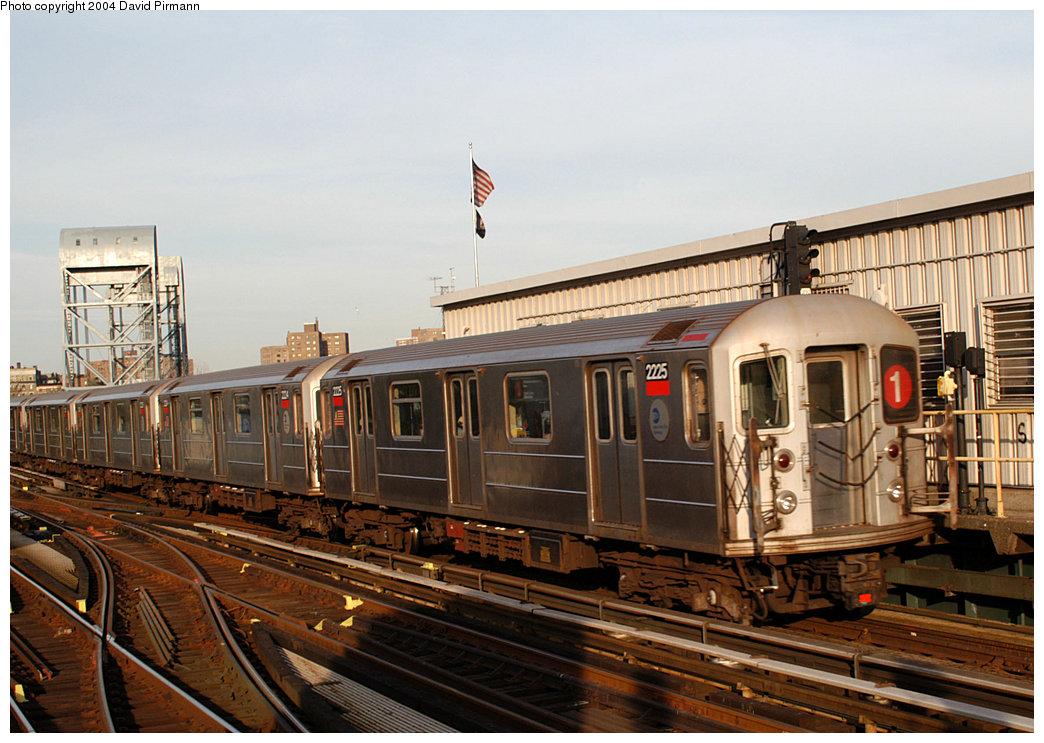 (267k, 1044x743)<br><b>Country:</b> United States<br><b>City:</b> New York<br><b>System:</b> New York City Transit<br><b>Line:</b> IRT West Side Line<br><b>Location:</b> 215th Street <br><b>Route:</b> 1<br><b>Car:</b> R-62A (Bombardier, 1984-1987)  2225 <br><b>Photo by:</b> David Pirmann<br><b>Date:</b> 11/6/2004<br><b>Viewed (this week/total):</b> 5 / 2990