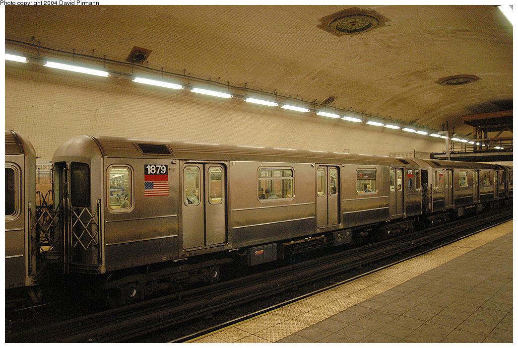 (298k, 1044x701)<br><b>Country:</b> United States<br><b>City:</b> New York<br><b>System:</b> New York City Transit<br><b>Line:</b> IRT West Side Line<br><b>Location:</b> 181st Street <br><b>Route:</b> 1<br><b>Car:</b> R-62A (Bombardier, 1984-1987)  1879 <br><b>Photo by:</b> David Pirmann<br><b>Date:</b> 11/6/2004<br><b>Viewed (this week/total):</b> 1 / 4103