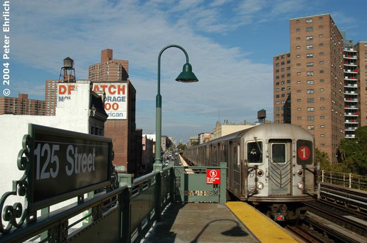 (156k, 720x478)<br><b>Country:</b> United States<br><b>City:</b> New York<br><b>System:</b> New York City Transit<br><b>Line:</b> IRT West Side Line<br><b>Location:</b> 125th Street <br><b>Route:</b> 1<br><b>Car:</b> R-62A (Bombardier, 1984-1987)  2240 <br><b>Photo by:</b> Peter Ehrlich<br><b>Date:</b> 10/27/2004<br><b>Viewed (this week/total):</b> 0 / 4005