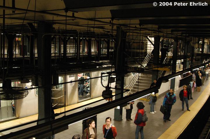 (165k, 720x478)<br><b>Country:</b> United States<br><b>City:</b> New York<br><b>System:</b> New York City Transit<br><b>Line:</b> IRT East Side Line<br><b>Location:</b> 14th Street/Union Square<br><b>Route:</b> 6<br><b>Car:</b> R-142 (Primary Order, Bombardier, 1999-2002) 6953 <br><b>Photo by:</b> Peter Ehrlich<br><b>Date:</b> 10/29/2004<br><b>Viewed (this week/total):</b> 3 / 7745