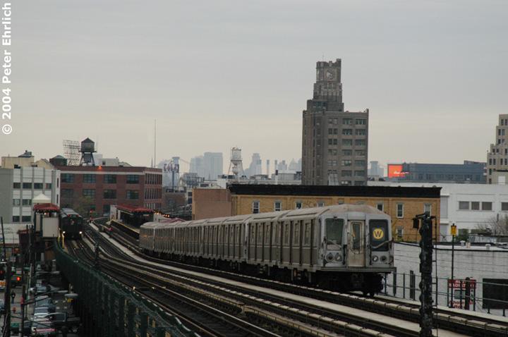 (121k, 720x478)<br><b>Country:</b> United States<br><b>City:</b> New York<br><b>System:</b> New York City Transit<br><b>Line:</b> BMT Astoria Line<br><b>Location:</b> 36th/Washington Aves. <br><b>Route:</b> W<br><b>Car:</b> R-40M (St. Louis, 1969)  4436 <br><b>Photo by:</b> Peter Ehrlich<br><b>Date:</b> 10/29/2004<br><b>Viewed (this week/total):</b> 0 / 4201