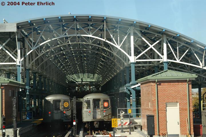 (179k, 720x478)<br><b>Country:</b> United States<br><b>City:</b> New York<br><b>System:</b> New York City Transit<br><b>Location:</b> Coney Island/Stillwell Avenue<br><b>Route:</b> Q/D<br><b>Car:</b> R-68/R-68A Series (Number Unknown)  <br><b>Photo by:</b> Peter Ehrlich<br><b>Date:</b> 10/28/2004<br><b>Viewed (this week/total):</b> 2 / 6189