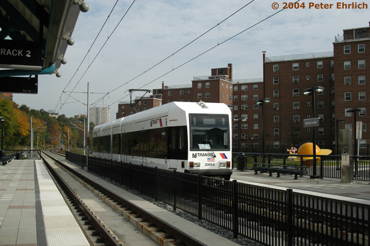 (145k, 720x478)<br><b>Country:</b> United States<br><b>City:</b> Hoboken, NJ<br><b>System:</b> Hudson Bergen Light Rail<br><b>Location:</b> 2nd Street <br><b>Car:</b> NJT-HBLR LRV (Kinki-Sharyo, 1998-99)  2006 <br><b>Photo by:</b> Peter Ehrlich<br><b>Date:</b> 10/27/2004<br><b>Viewed (this week/total):</b> 0 / 3173