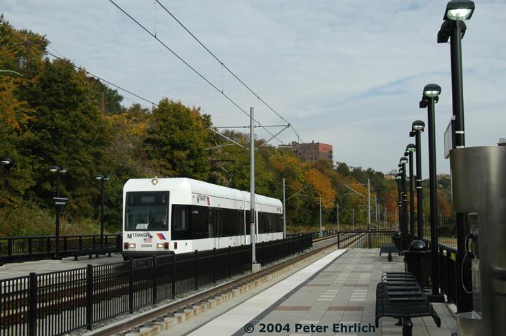 (146k, 720x478)<br><b>Country:</b> United States<br><b>City:</b> Hoboken, NJ<br><b>System:</b> Hudson Bergen Light Rail<br><b>Location:</b> 2nd Street <br><b>Car:</b> NJT-HBLR LRV (Kinki-Sharyo, 1998-99)  2006 <br><b>Photo by:</b> Peter Ehrlich<br><b>Date:</b> 10/27/2004<br><b>Viewed (this week/total):</b> 0 / 2599