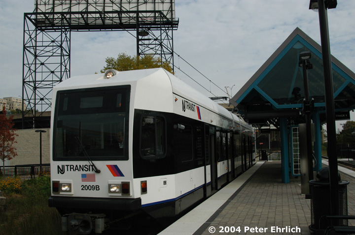 (133k, 720x478)<br><b>Country:</b> United States<br><b>City:</b> Weehawken, NJ<br><b>System:</b> Hudson Bergen Light Rail<br><b>Location:</b> Lincoln Harbor <br><b>Car:</b> NJT-HBLR LRV (Kinki-Sharyo, 1998-99)  2009 <br><b>Photo by:</b> Peter Ehrlich<br><b>Date:</b> 10/27/2004<br><b>Viewed (this week/total):</b> 1 / 2699