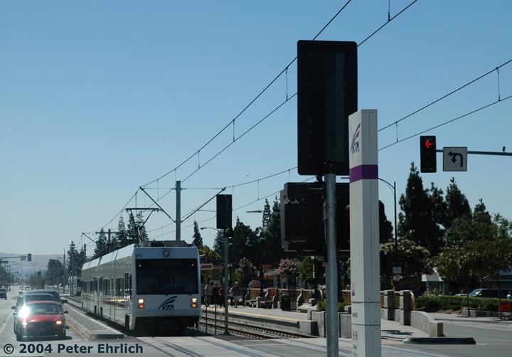 (115k, 720x502)<br><b>Country:</b> United States<br><b>City:</b> San Jose, CA<br><b>System:</b> Santa Clara VTA<br><b>Line:</b> VTA Tasman East/Capitol<br><b>Location:</b> McKee <br><b>Car:</b> VTA Kinki-Sharyo 919 <br><b>Photo by:</b> Peter Ehrlich<br><b>Date:</b> 8/25/2004<br><b>Viewed (this week/total):</b> 0 / 1145