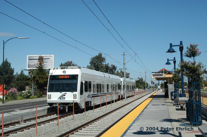 (156k, 720x478)<br><b>Country:</b> United States<br><b>City:</b> San Jose, CA<br><b>System:</b> Santa Clara VTA<br><b>Line:</b> VTA Tasman East/Capitol<br><b>Location:</b> McKee <br><b>Car:</b> VTA Kinki-Sharyo 960 <br><b>Photo by:</b> Peter Ehrlich<br><b>Date:</b> 8/25/2004<br><b>Viewed (this week/total):</b> 0 / 1571