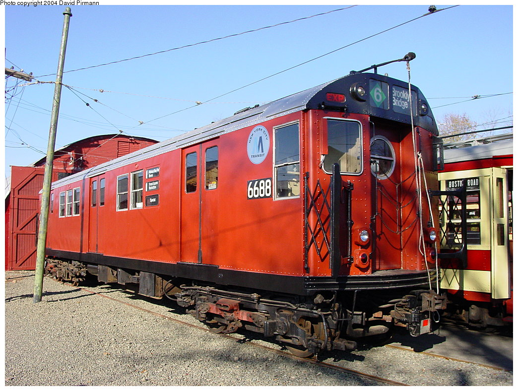(250k, 1044x788)<br><b>Country:</b> United States<br><b>City:</b> East Haven/Branford, Ct.<br><b>System:</b> Shore Line Trolley Museum <br><b>Car:</b> R-17 (St. Louis, 1955-56) 6688 <br><b>Photo by:</b> David Pirmann<br><b>Date:</b> 11/14/2004<br><b>Viewed (this week/total):</b> 0 / 5537