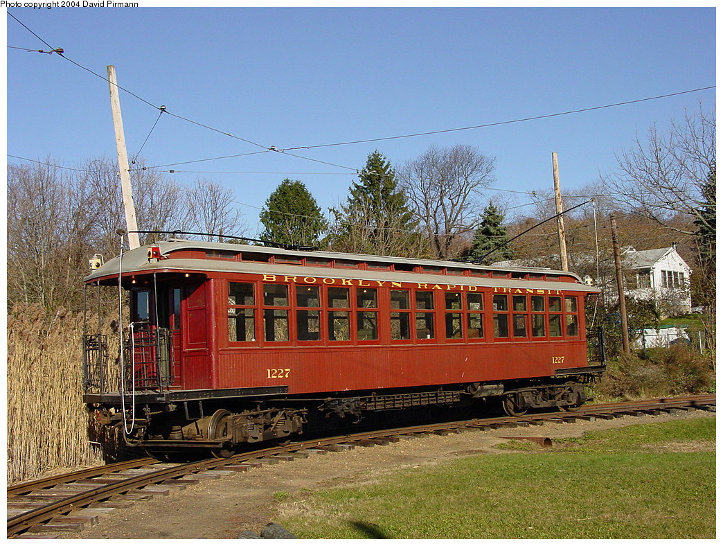 (275k, 1044x788)<br><b>Country:</b> United States<br><b>City:</b> East Haven/Branford, Ct.<br><b>System:</b> Shore Line Trolley Museum <br><b>Car:</b> BMT Elevated Gate Car 1227 <br><b>Photo by:</b> David Pirmann<br><b>Date:</b> 11/14/2004<br><b>Viewed (this week/total):</b> 1 / 3982