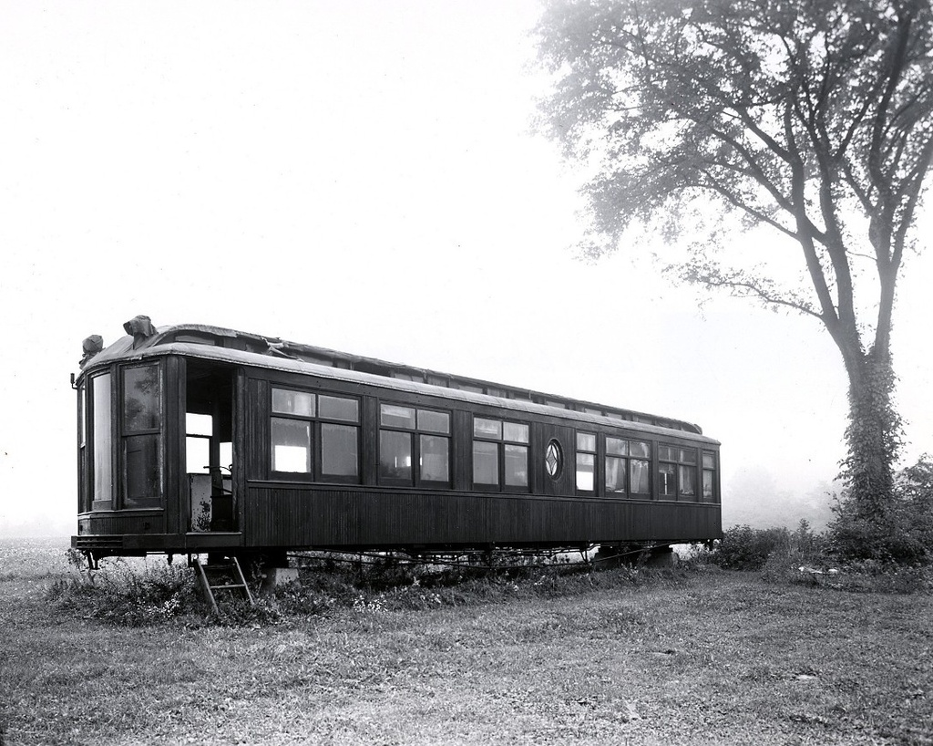 (325k, 1024x818)<br><b>Country:</b> United States<br><b>City:</b> East Haven/Branford, Ct.<br><b>System:</b> Shore Line Trolley Museum <br><b>Car:</b> Hi-V 3344 <i>Mineola</i> <br><b>Collection of:</b> George Cuhaj<br><b>Date:</b> 9/17/1954<br><b>Notes:</b> Joseph Garcia farm, Flemington NJ.<br><b>Viewed (this week/total):</b> 2 / 2761