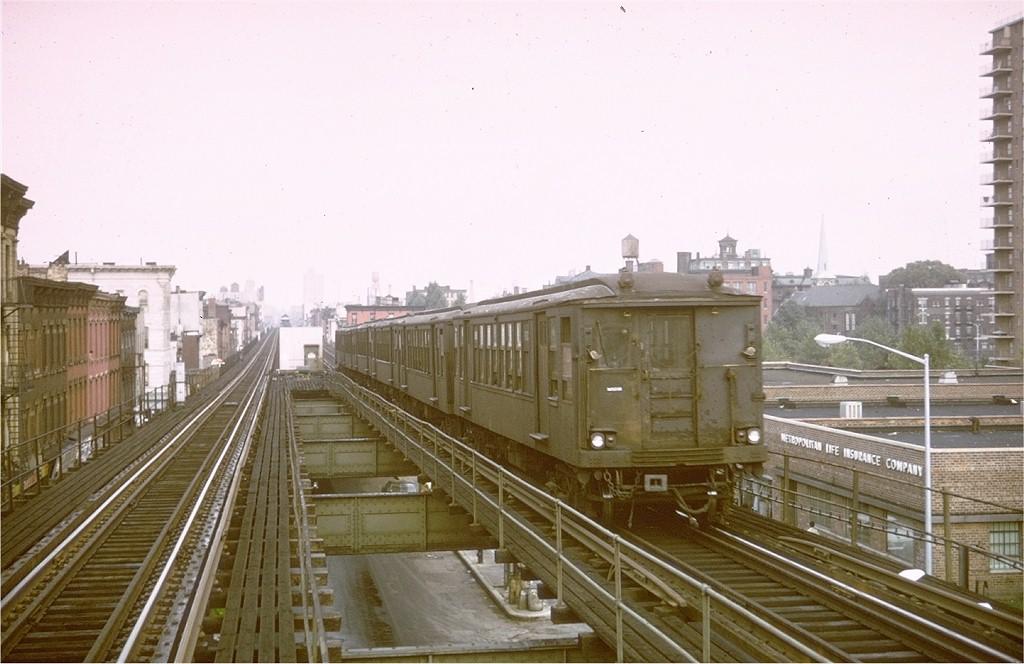 (166k, 1024x664)<br><b>Country:</b> United States<br><b>City:</b> New York<br><b>System:</b> New York City Transit<br><b>Line:</b> BMT Myrtle Avenue Line<br><b>Location:</b> Vanderbilt Avenue <br><b>Car:</b> BMT Q 1602 <br><b>Photo by:</b> Steve Zabel<br><b>Collection of:</b> Joe Testagrose<br><b>Date:</b> 9/20/1969<br><b>Viewed (this week/total):</b> 2 / 5110