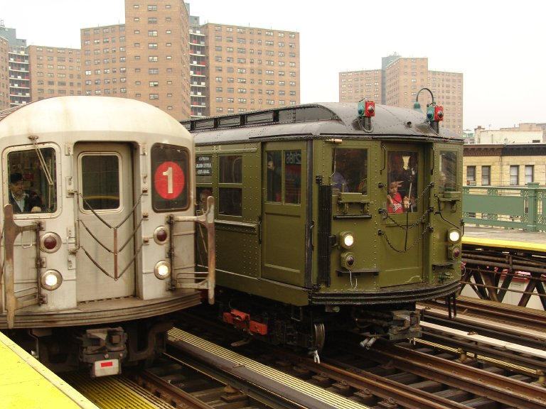 (102k, 768x576)<br><b>Country:</b> United States<br><b>City:</b> New York<br><b>System:</b> New York City Transit<br><b>Line:</b> IRT West Side Line<br><b>Location:</b> 125th Street <br><b>Route:</b> Fan Trip<br><b>Car:</b> Low-V (Museum Train) 5443 <br><b>Photo by:</b> Richard Panse<br><b>Date:</b> 11/21/2004<br><b>Notes:</b> With R62A 2186<br><b>Viewed (this week/total):</b> 0 / 2853