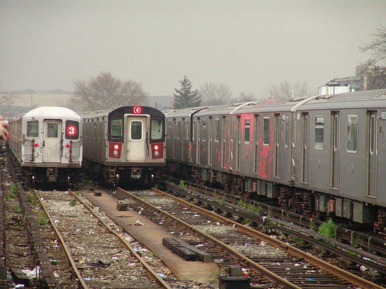 (101k, 771x578)<br><b>Country:</b> United States<br><b>City:</b> New York<br><b>System:</b> New York City Transit<br><b>Location:</b> Livonia Yard<br><b>Car:</b> R-142 or R-142A (Number Unknown)  <br><b>Photo by:</b> Richard Panse<br><b>Date:</b> 11/21/2004<br><b>Viewed (this week/total):</b> 5 / 12898