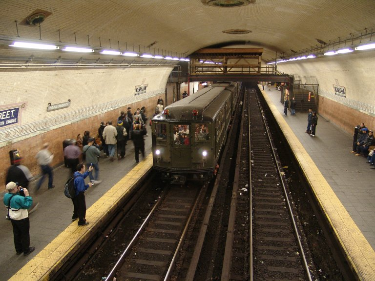 (107k, 768x576)<br><b>Country:</b> United States<br><b>City:</b> New York<br><b>System:</b> New York City Transit<br><b>Line:</b> IRT West Side Line<br><b>Location:</b> 181st Street <br><b>Route:</b> Fan Trip<br><b>Car:</b> Low-V (Museum Train) 5443 <br><b>Photo by:</b> Richard Panse<br><b>Date:</b> 11/21/2004<br><b>Viewed (this week/total):</b> 1 / 6056