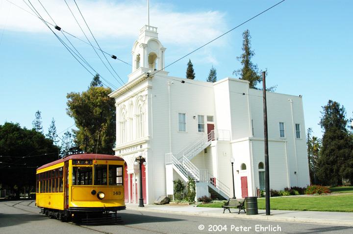 (147k, 720x478)<br><b>Country:</b> United States<br><b>City:</b> San Jose, CA<br><b>System:</b> Kelley Park Vintage Trolley <br><b>Car:</b>  143 <br><b>Photo by:</b> Peter Ehrlich<br><b>Date:</b> 3/28/2004<br><b>Viewed (this week/total):</b> 2 / 1948