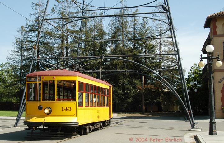 (206k, 720x459)<br><b>Country:</b> United States<br><b>City:</b> San Jose, CA<br><b>System:</b> Kelley Park Vintage Trolley <br><b>Car:</b>  143 <br><b>Photo by:</b> Peter Ehrlich<br><b>Date:</b> 3/28/2004<br><b>Viewed (this week/total):</b> 2 / 1959