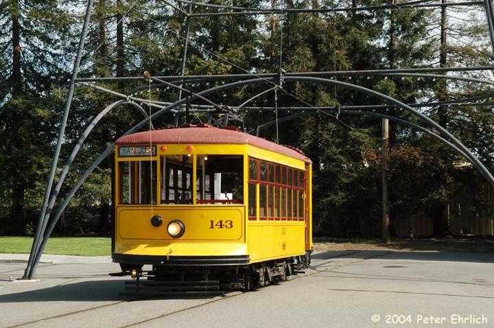(211k, 720x478)<br><b>Country:</b> United States<br><b>City:</b> San Jose, CA<br><b>System:</b> Kelley Park Vintage Trolley <br><b>Car:</b>  143 <br><b>Photo by:</b> Peter Ehrlich<br><b>Date:</b> 3/28/2004<br><b>Viewed (this week/total):</b> 1 / 2739