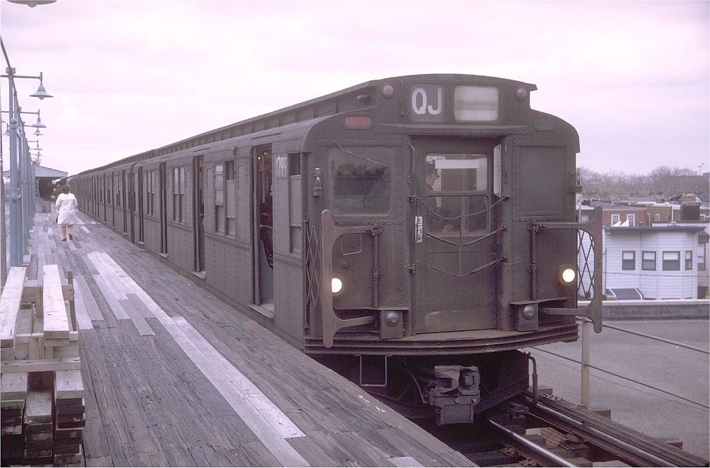 (198k, 1024x676)<br><b>Country:</b> United States<br><b>City:</b> New York<br><b>System:</b> New York City Transit<br><b>Line:</b> BMT Nassau Street/Jamaica Line<br><b>Location:</b> Crescent Street <br><b>Route:</b> QJ<br><b>Car:</b> R-9 (Pressed Steel, 1940)  1799 <br><b>Photo by:</b> Doug Grotjahn<br><b>Collection of:</b> Joe Testagrose<br><b>Date:</b> 11/14/1970<br><b>Viewed (this week/total):</b> 2 / 3606